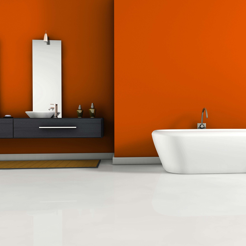 plancher de salle de bain en époxy