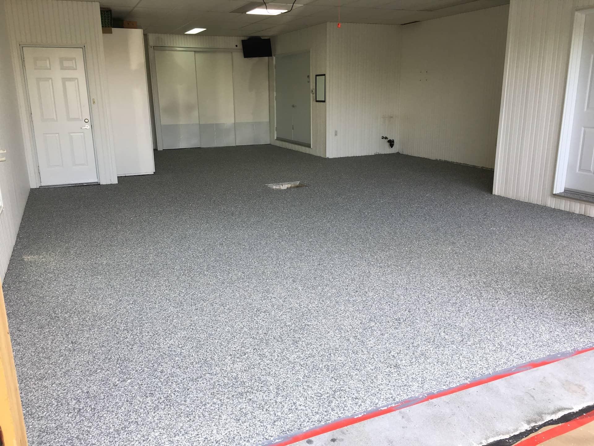 plancher de garage en époxy